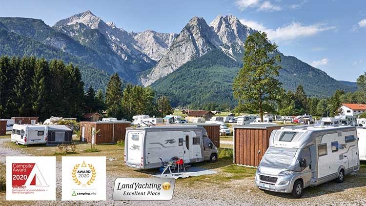 Dreifach ausgezeichnet - das Camping resort zugspitze. (Foto: Camping Zugspitze)