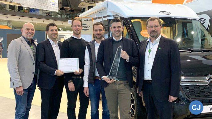 Der Carado V 337 erhält den DCC Sicherehitspreis. (Foto: DCC)