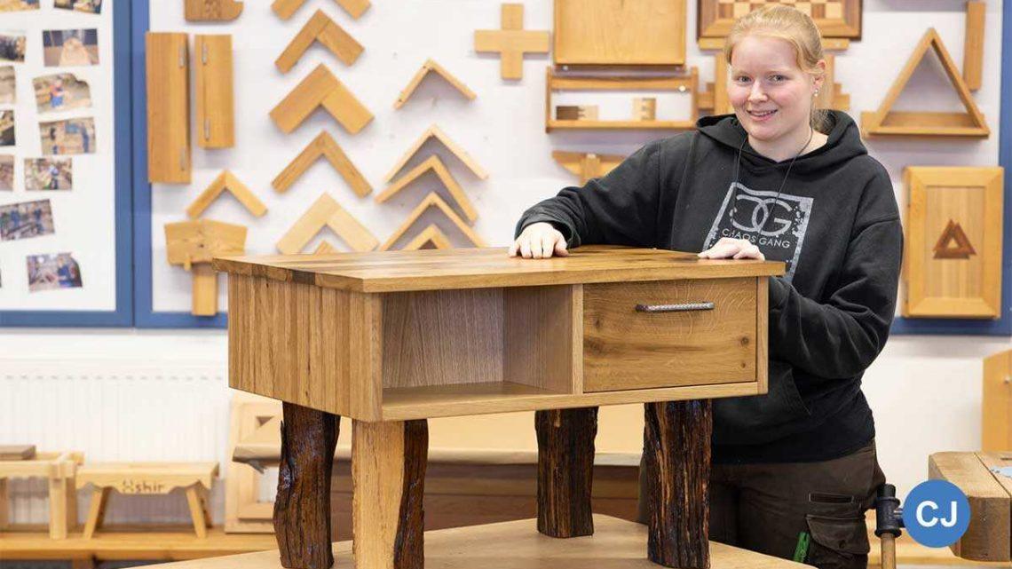 Hochwertig, individuelle Einzelstücke aus Holz gehören zum festen Bestandteil der gewerblichen Ausbildung bei Hobby.