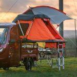 E-Dreirad Elektrofrosch als Mini-Camper