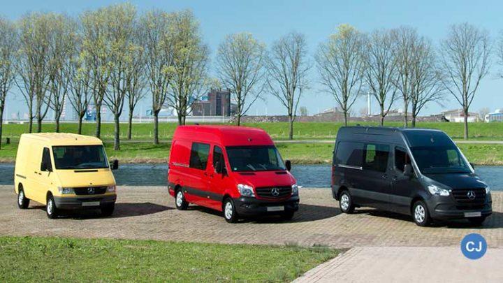Drei Generationen Sprinter. (Foto: Mercedes-Benz)