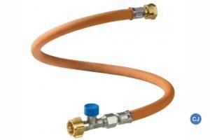 Schafft zusätzliche Sicherheit - die Bruchsicherung am Gasschlauch. (Foto: GOK)